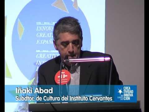 """Inauguración del ciclo """"Innovación creativa española""""."""