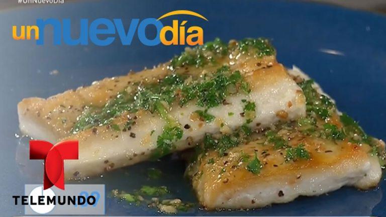 Recetas de cocina: Cómo hacer Pescado en Salsa de Limón | Un Nuevo Día | Telemundo