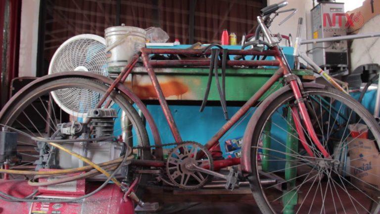 Restauración de historias, bicicletas antiguas