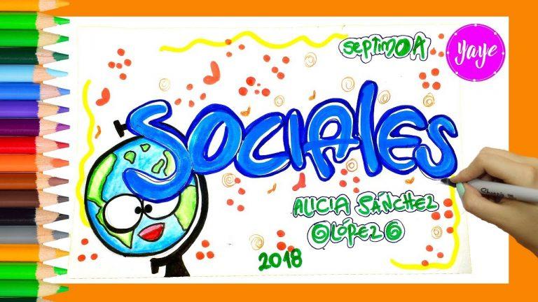 Ideas para aprender a dibujar las portadas de los Cuadernos de Sociales -Yaye