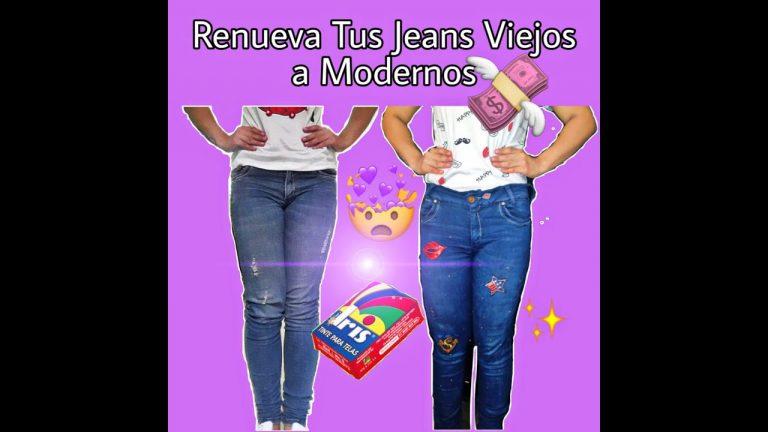 Renueva Tus Jeans Viejos A Nuevos (FÁCIL Y ECONÓMICO)
