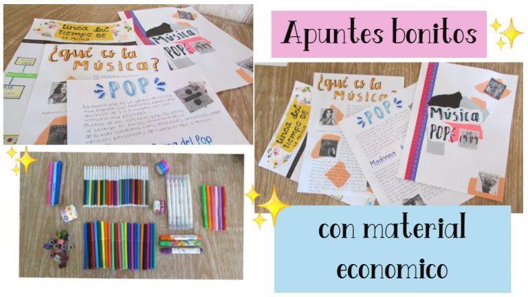 Apuntes bonitos con materiales económicos :)