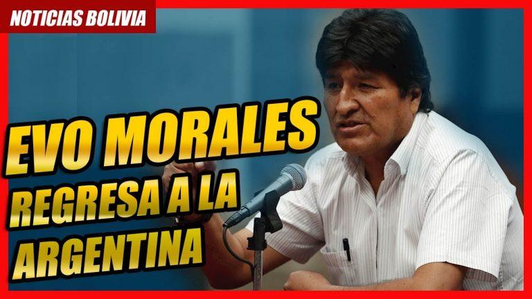 🔴 Evo Morales anunció que vuelve esta noche a la Argentina desde Cuba
