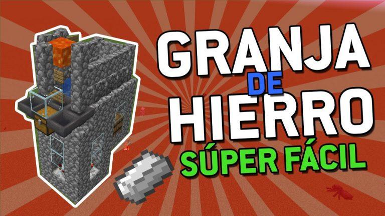 La Granja de HIERRO MÁS FÁCIL de Minecraft ✅ – Minecraft 1.15.2/1.14