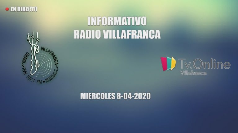 INFORMATIVO MIERCOLES 8 DE ABRIL RADIO VILLAFRANCA