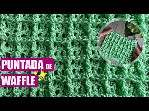 PUNTADA DE WAFFLE – LAS PUNTADAS DE LAURA