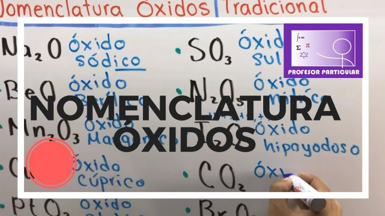 Nomenclatura química  Óxidos | Química inorgánica
