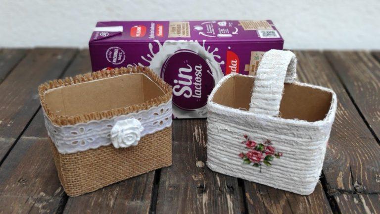 Dos ideas para hacer cestas con tetra brick / Tetra brick baskets (english subtitles)