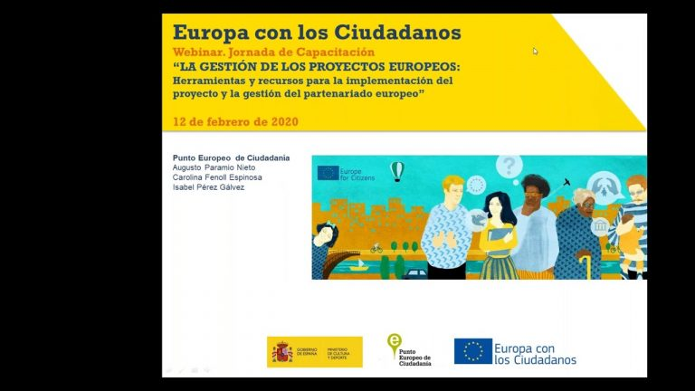 """Webinar. Capacitación """"La gestión de proyectos europeos: metodologías, herramientas y recursos"""""""