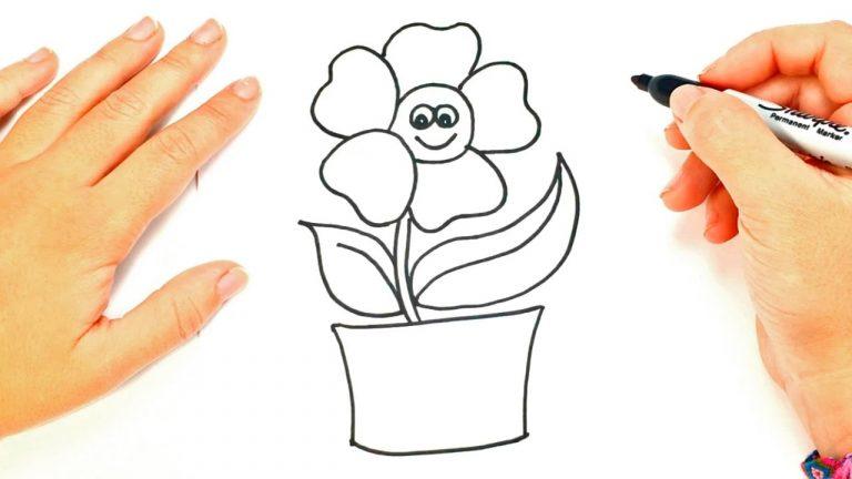 Como dibujar una Planta paso a paso   Dibujo fácil de Planta