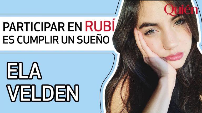 Ela Velden: Participar en 'Rubí' es como cumplir un sueño  | Entrevista