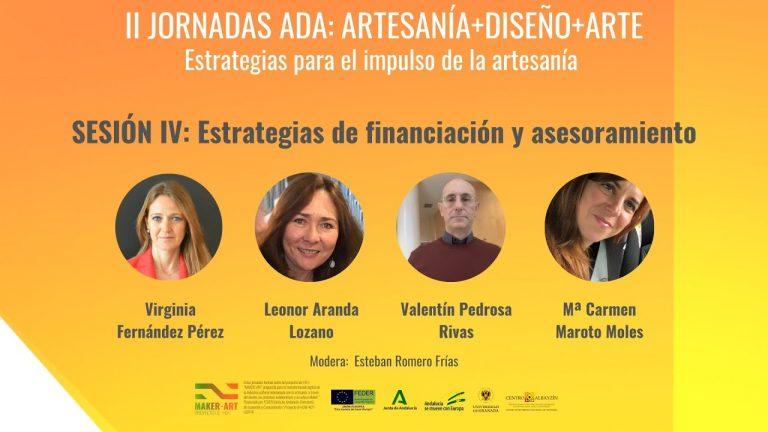 """Jornadas ADA 2020 – Sesión 4 – """"Estrategias de financiación y asesoramiento"""" (02/07/2020)"""
