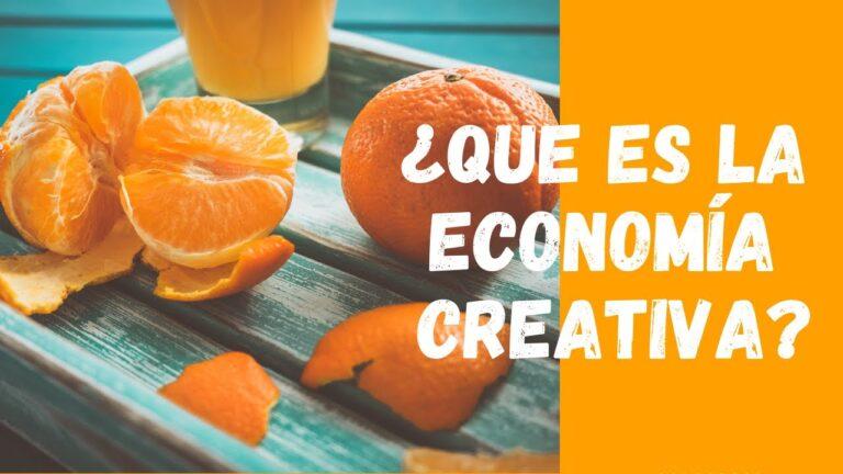 ¿Que és la economía creativa?