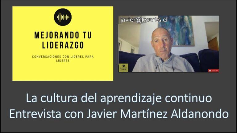La cultura del aprendizaje continuo – Entrevista con Javier Martínez Aldanondo