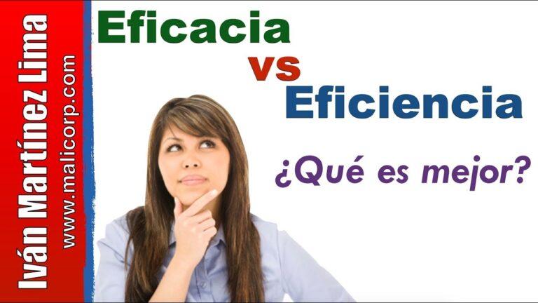 DIFERENCIA entre Eficiencia y Eficacia – Ejemplo SENCILLO y RAPIDO