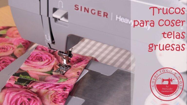 Cómo coser telas gruesas, todos los trucos