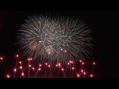 Comienza la competición mundial de fuegos artificiales de Berlin