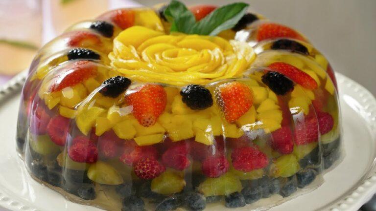 Gelatina Cristalina con Frutas | Gelatina Transparente con Frutas