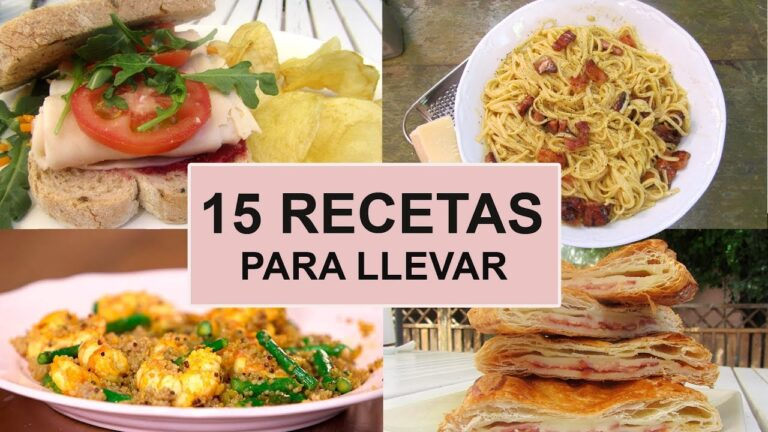 15 Recetas PARA LLEVAR AL TRABAJO | Ideas de comidas para el tupper