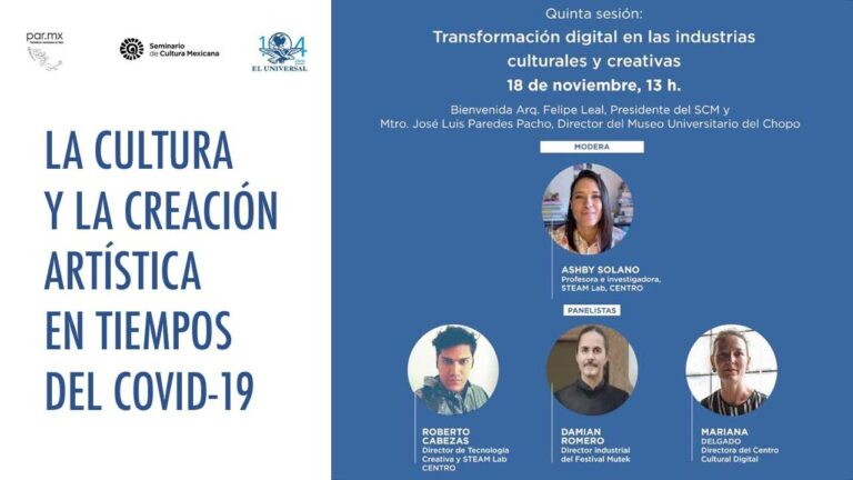 Transformación digital en las industrias culturales y creativas: Foro virtual 5ª sesión