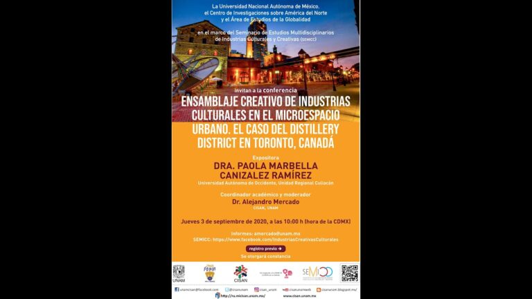 """Conferencia """"Ensamblaje Creativo de Industrias Culturales en el micro espacio urbano"""""""