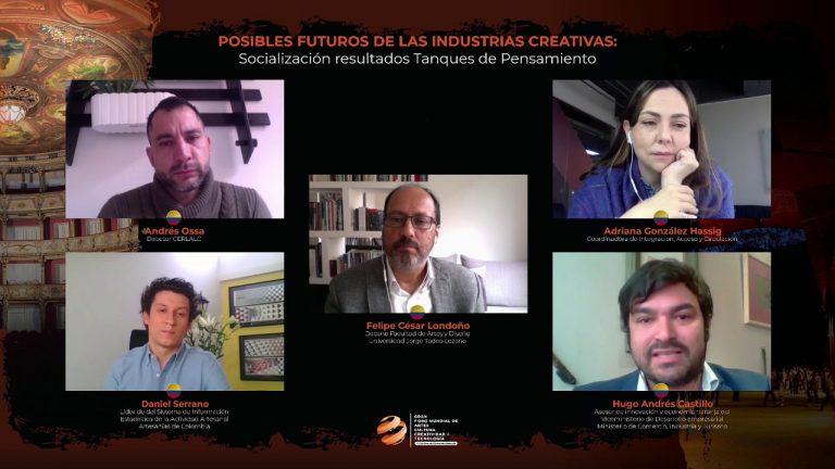 GFACCT – Posibles futuros de las industrias creativas: Socialización Tanques de Pensamiento