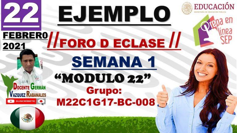 EJEMPLO DEL FORO CLASE SEMANA 1 MODULO 22