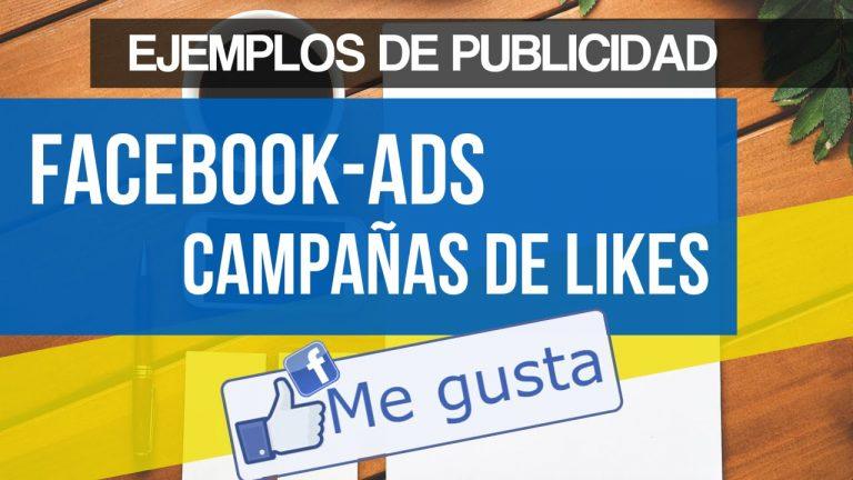 Ejemplos de Publicidad en Facebook Ads Campañas de Me Gusta en Dispositivos Móviles