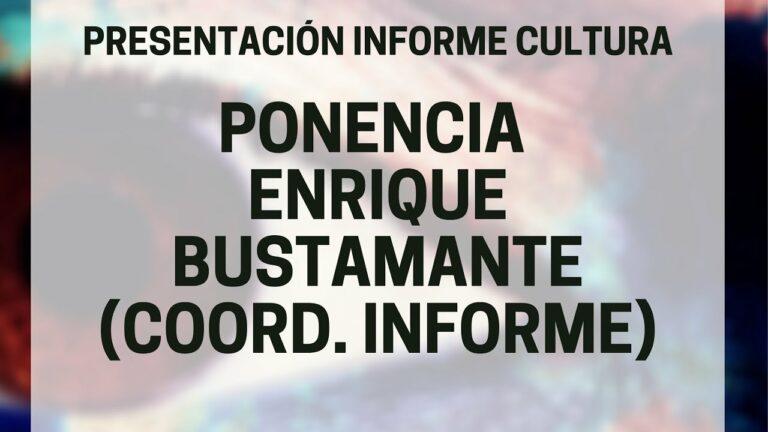 ENRIQUE BUSTAMANTE   Presentación Informe Cultura 2020